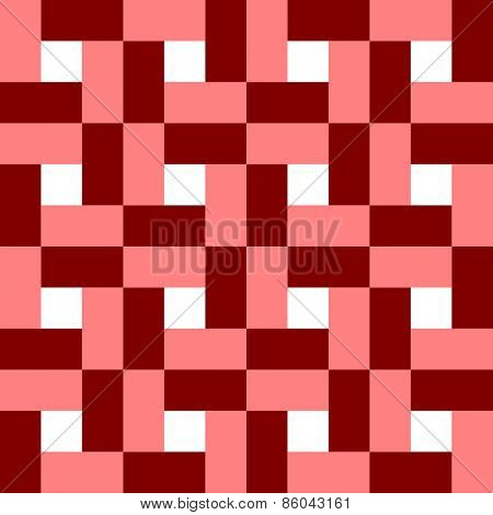 Seamless Square and Stripe Pattern. Vector Background
