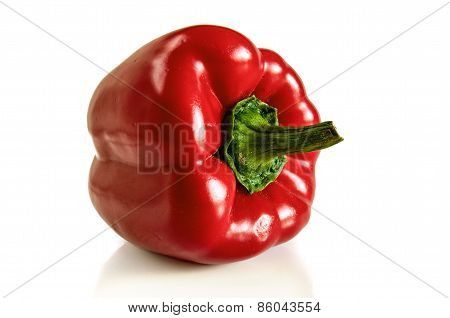 Red Pepper On A White Background.