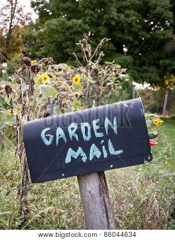 mailbox with garden mail