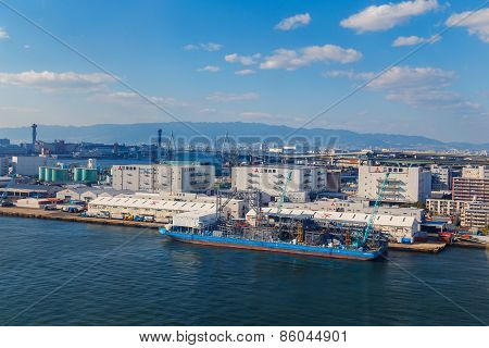 Osaka Bay - an Industrial District in Osaka City, Japan