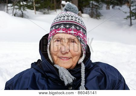 Senior Woman With Toque