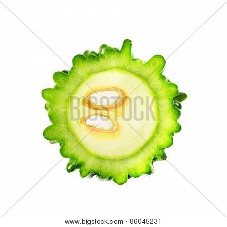 Bitter Melon Isolated On White Background