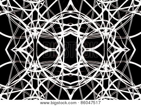Geometric Pattern In Black And White