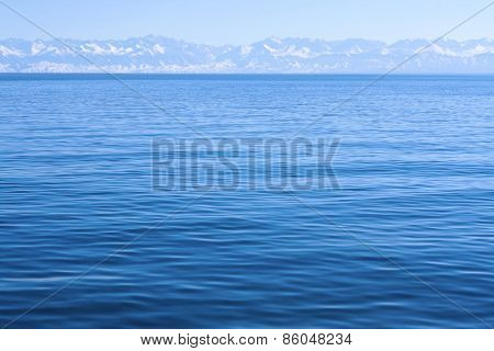 Mountains and  lake view.