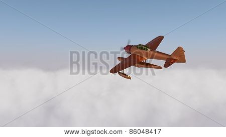 hydroplane over the clouds