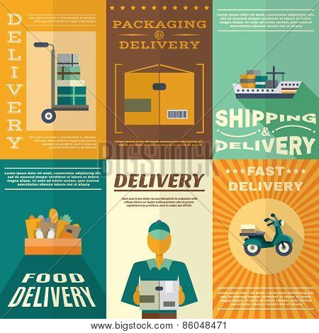 Delivery Poster Set