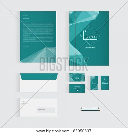 Greenish Blue Stationery Template Design for Your Business | Modern Vector Design