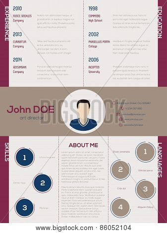 Cool new modern cv resume template