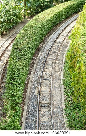 Curved Of Railway On Right Hand Side