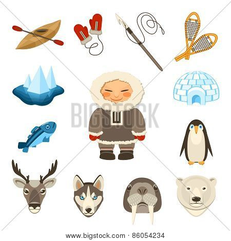 Chukchi Icons Set