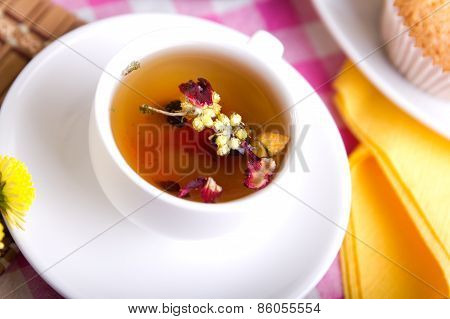 White Tea Cup With Close-up