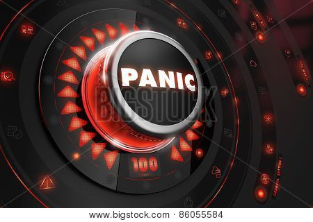 Panic Controller with Glowing Red Lights.