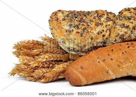 Whole wheat bread with bun