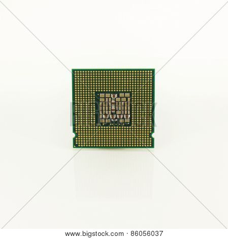 Cpu On White Background