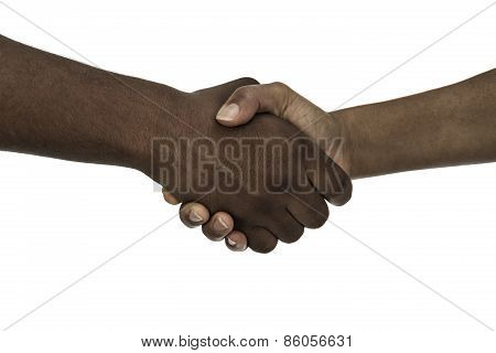 African Descent Man And Woman Handshake