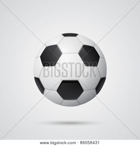 Shiny Three-dimensional Soccer Ball
