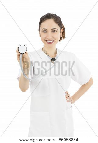 Woman Doctor With A Stethoscope