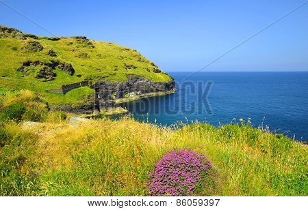 Tintagel bay in North Cornwall
