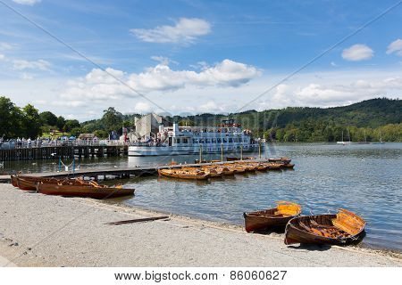 Bowness on Windermere Lake District England UK pleasure boat tourist attractions