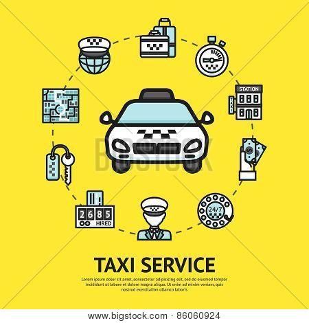 Taxi Service Illustration
