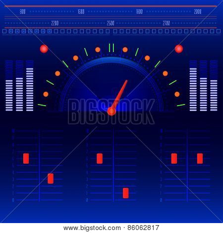 Abstract Radio And Music Panel Vector