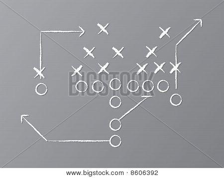 Vector Football Play