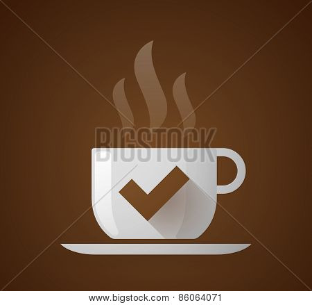 Coffee Cup With A Check Mark