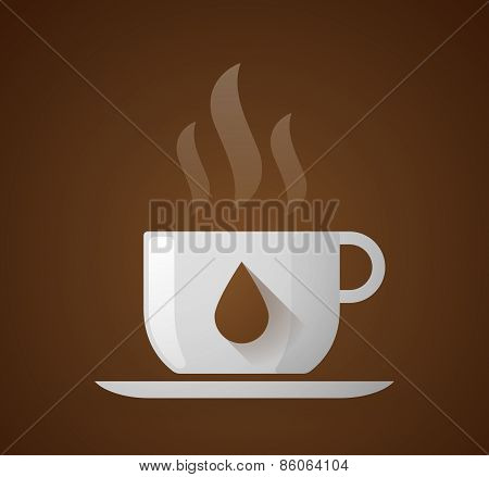 Coffee Cup With A Drop