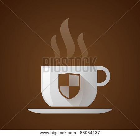 Coffee Cup With A Shield