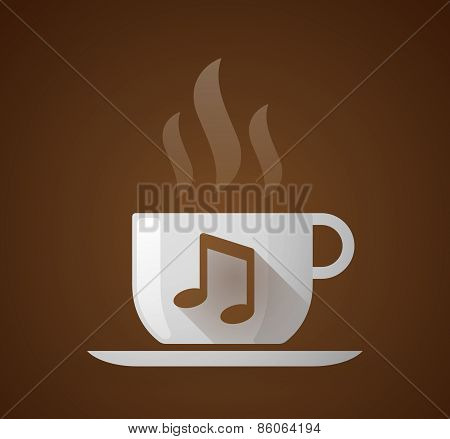 Coffee Cup With A Note Music