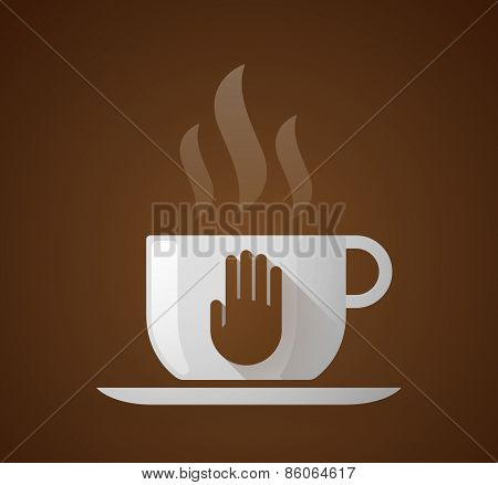 Coffee Cup With A Hand