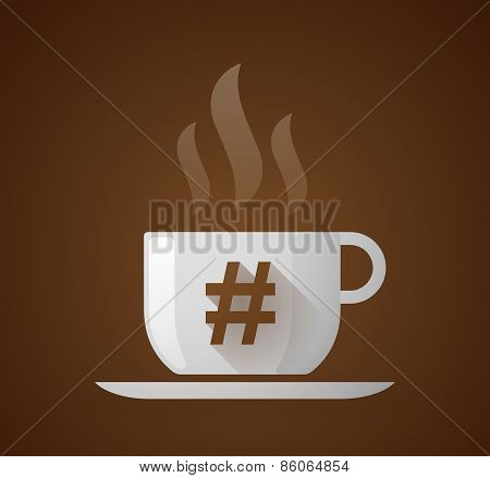 Coffee Cup With A Hash Tag