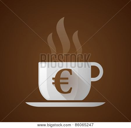 Coffee Cup With An Euro Sign