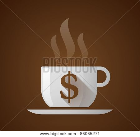 Coffee Cup With A Dollar Sign