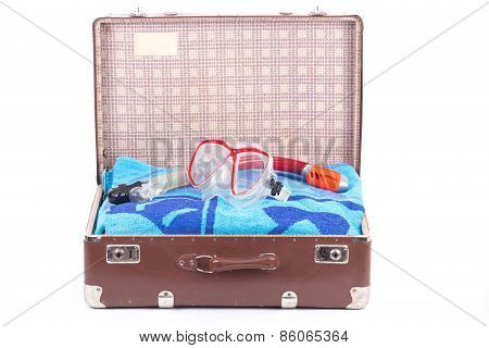 Snorkeling In An Old Suitcase