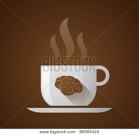 Coffee Cup With A Brain