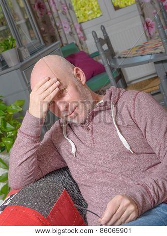 A Senior Has A Headache