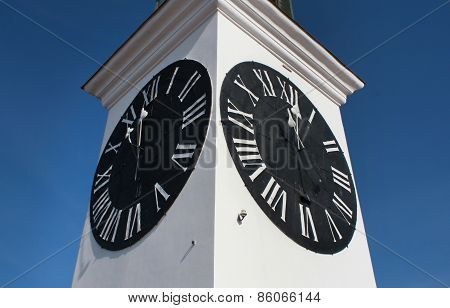 The Clock Tower On  Petrovaradin Fortress, Novi Sad, Serbia