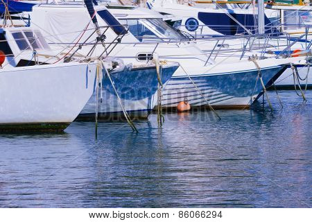 Yachts And Boats In A Harbour