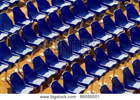 Chairs On Abandoned Stadion