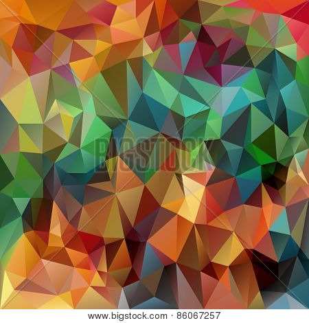 Vector Polygonal Background Pattern - Triangular Design In Spring Color
