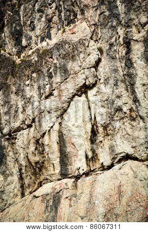 Abstract Limestone Block