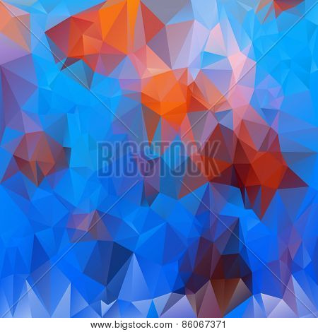 Vector Polygonal Background Pattern - Triangular Design In Undersea Lif