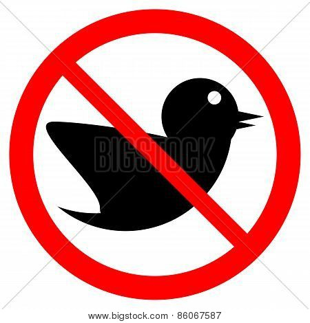 No Bird Sign.
