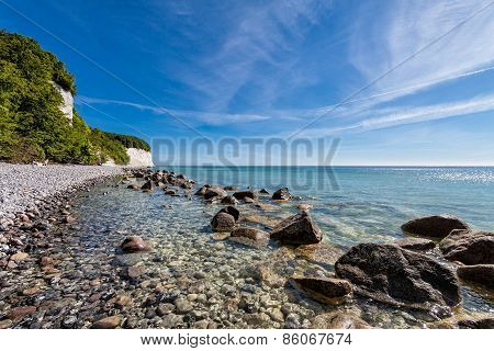 Baltic Sea coast on the island Ruegen (Germany)