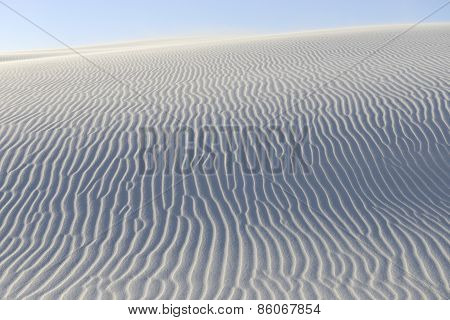 Rippled Patterns in Sand Dunes