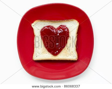 Red Plate Isolated