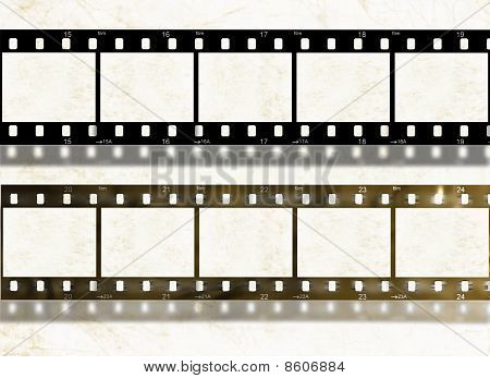 Blank Film Stripes, Old And New, Design Elements