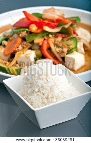Thai Stir Fry and Jasmine Rice