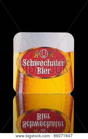 Beermat from Schwechater Beer